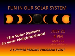 Fun In Our Solar System - Space Program @ Lebanon Library
